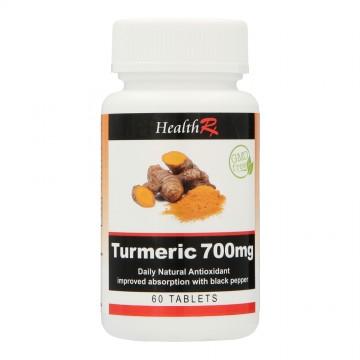 HEALTHRX TURMERIC 700MG TABLETS 60S
